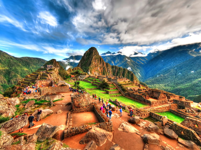 Machu Picchu, Peru, South America - the lost city of the Inca