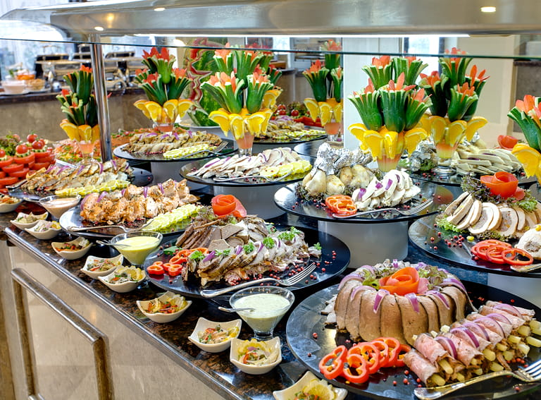 Buffet at a hotel resort