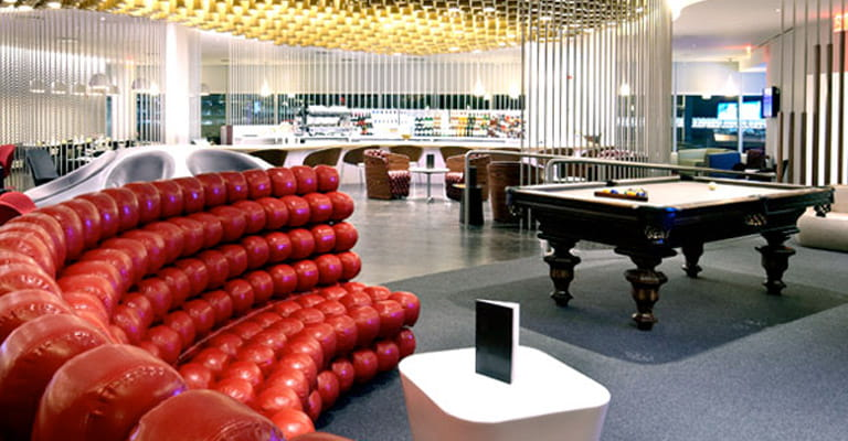 Virgin Lounge at JFK, New York
