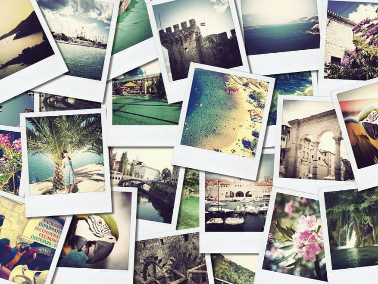Polaroid pictures of various holidays