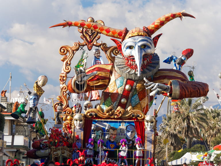 Allegorical float at Viareggio Carnival