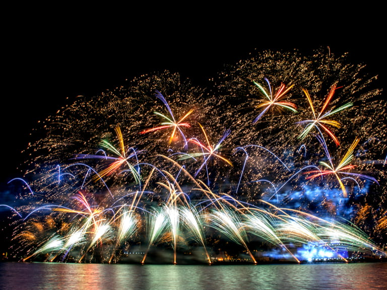 Fireworks in Valletta for the Malta International firework Festival