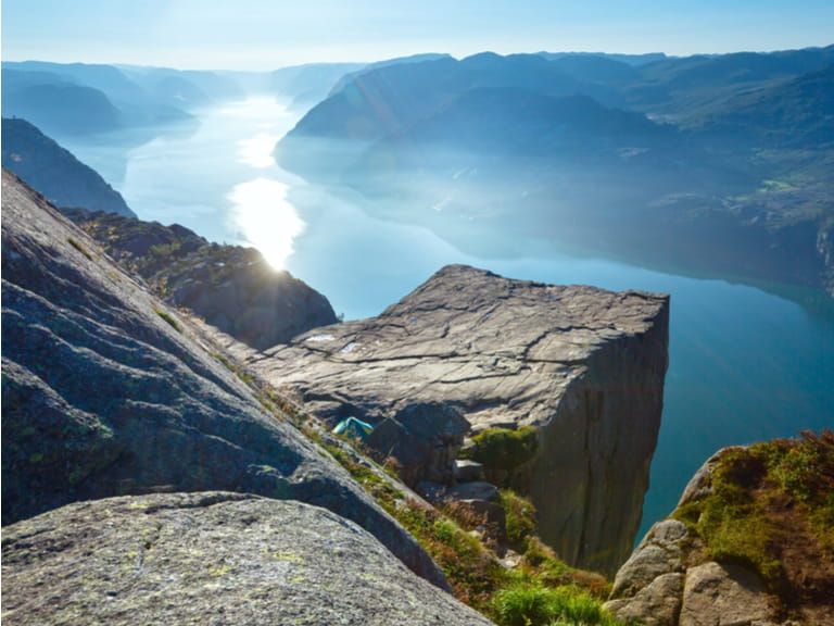 Lysefjord reveals the mighty Pulpit Rock.
