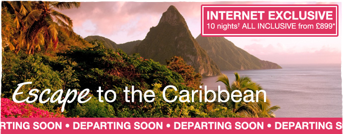 Escape to the Caribbean - internet exclusive - departing soon