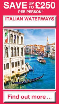 SAVE up to £250 per person on Italian Waterways - Find out more...