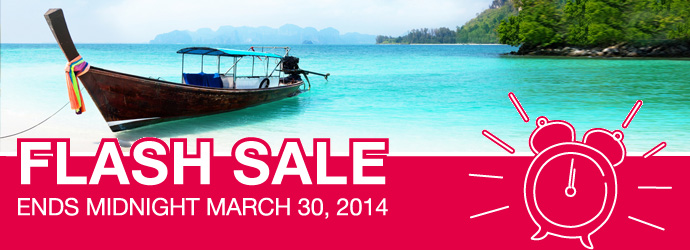 FLASH SALE - ends midnight March 30, 2014