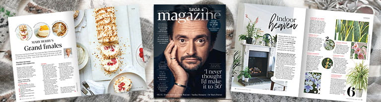 Try 3 issues of Saga Magazine for just £3