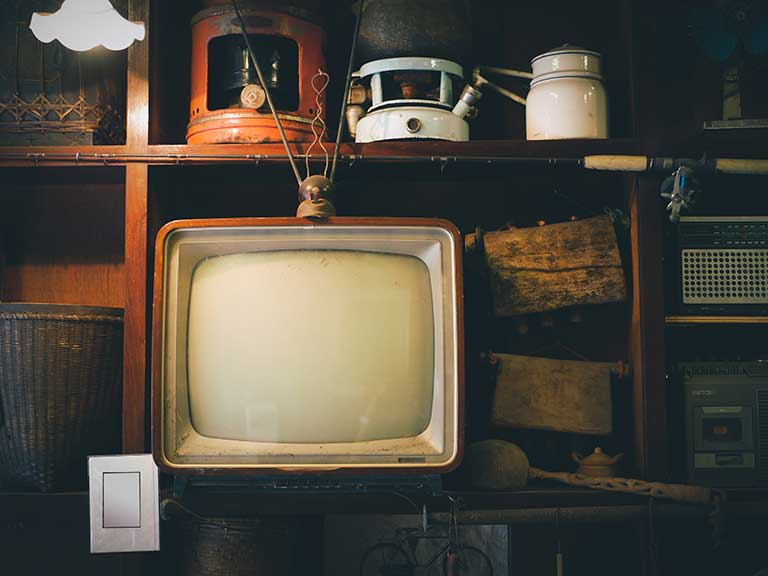 A retro television to represent weird TV shows