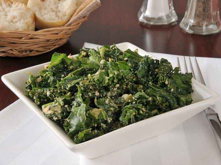 Cooked kale