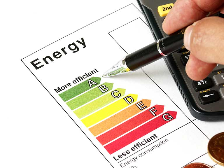 An energy rating