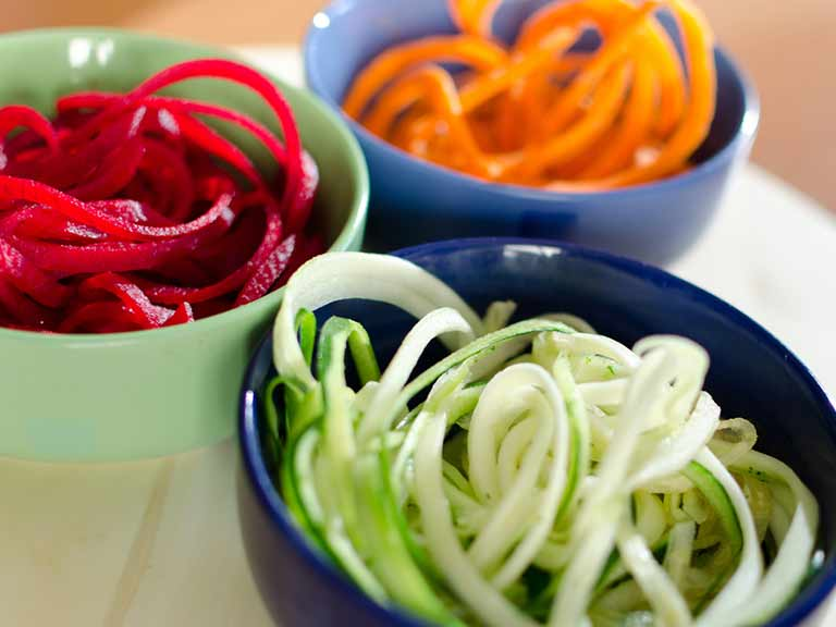Spiralised vegetables