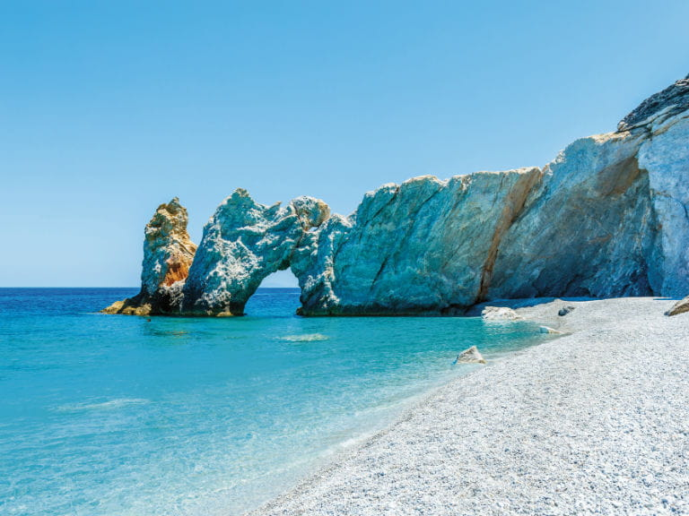 Lalaria Beach on Skiathos, Greece