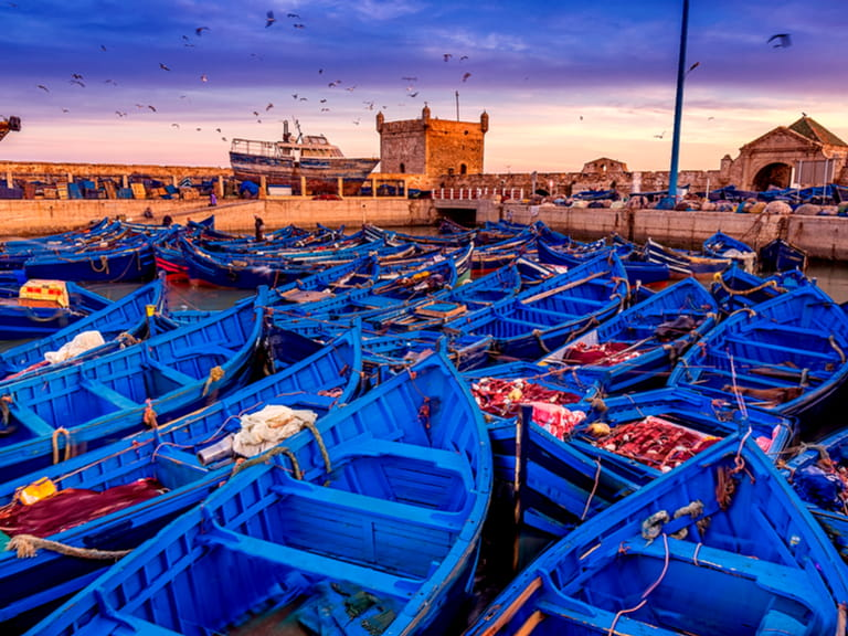 Essaouira port in Morocco