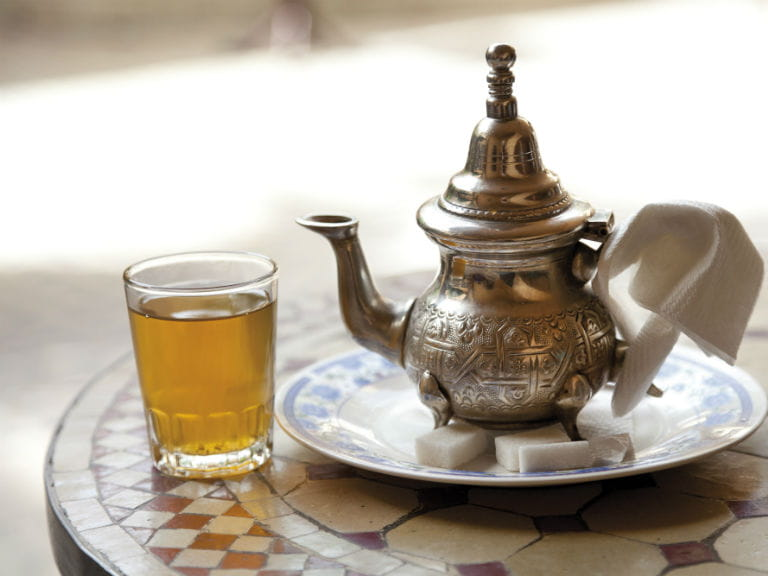 Traditional Marrakesh tea In Morocco