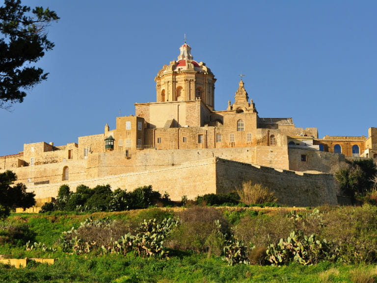 The ancient city of Mdina, Malta's capital until the medieval era